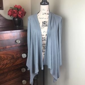 NWT Gray CLAIRE Waterfall Sweater M